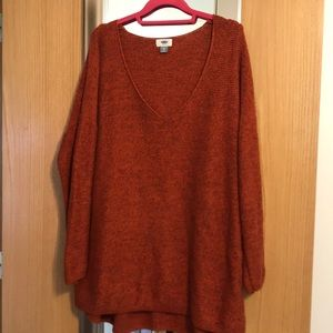 Orange old navy sweater